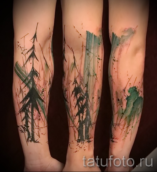 tatouage abstrait sur son avant-bras - photo par exemple du nombre 21122015 1
