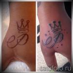 tatouage de couronne avec la lettre - une photo du tatouage fini - 20122015 Numéro 2