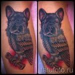 tatouage sur la chouette de veau - photo par exemple du nombre 20122015 1