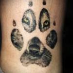 tatouage sur le loup de veau - photo par exemple du nombre 20122015 1