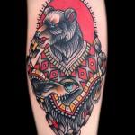 tatouage sur le mollet de l'ours - photo par exemple du nombre 20122015 2