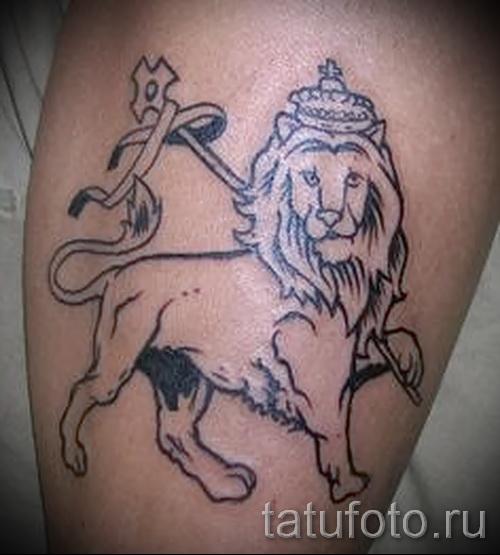 tatouage sur le mollet lion - photo par exemple du nombre 20122015 1