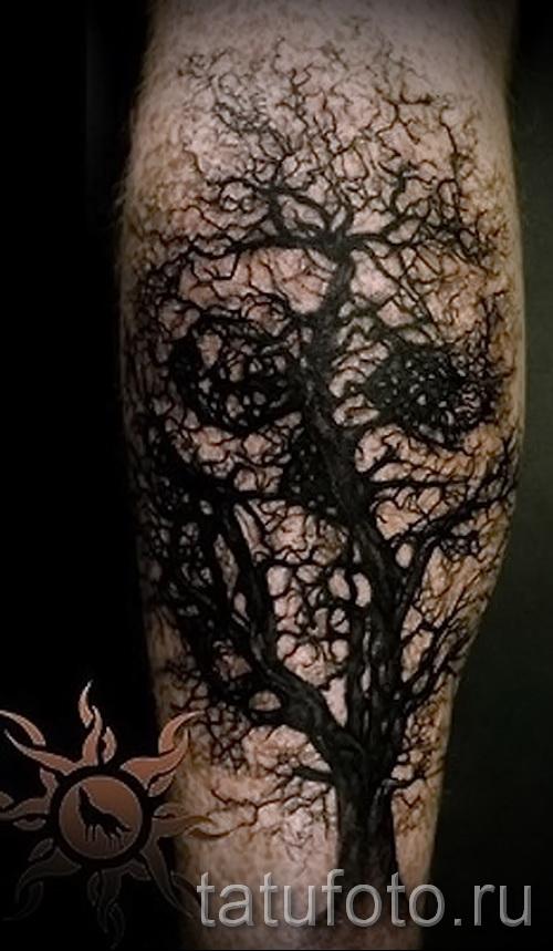 tatouage sur le mollet pour les hommes - photo par exemple du nombre 20122015 1