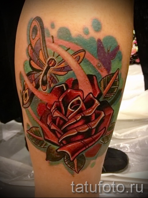 tatouage sur le veau rose - photo par exemple du nombre 20122015 1