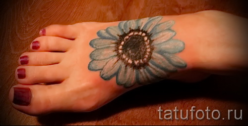 tattoo blue flowers - Picture option from the number 21122015 2