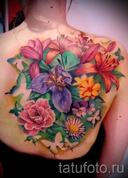 tattoo bouquet of flowers - Photo option from the number 21122015 2