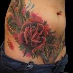 tattoo flower on her belly - Photo option from the number 21122015 1