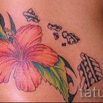 tattoo flower on her belly photo - Photo option from the number 21122015 2