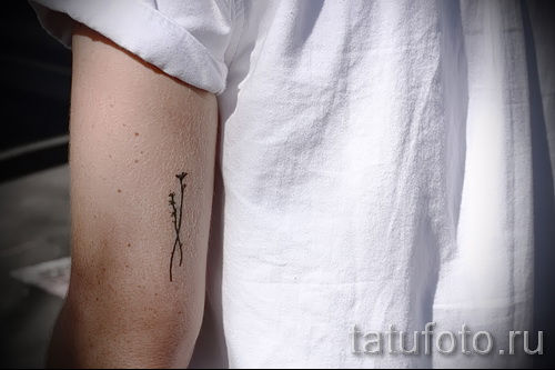 tattoo flowers minimalism - Picture option from the number 21122015 2