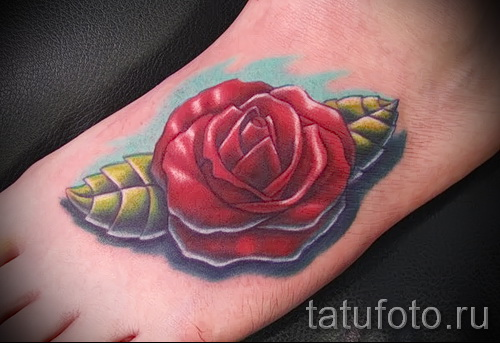 tattoo flowers on foot - Photo option from the number 21122015 1