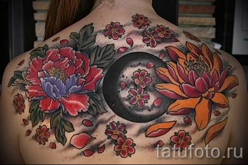 tattoo flowers peonies - a variant of the picture number 21122015 2
