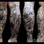 tattoo on the calf for men - Photo example of the number 20122015 1