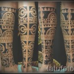tattoo on the calf patterns - Photo example of the number 20122015 1