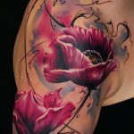 tattoo realism flowers - Picture option from the number 21122015 1