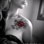 tattoo rose collarbone - Picture option from the number 15122015 1