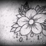 tattoo white Sakura - Photo example of the number 12122015 1