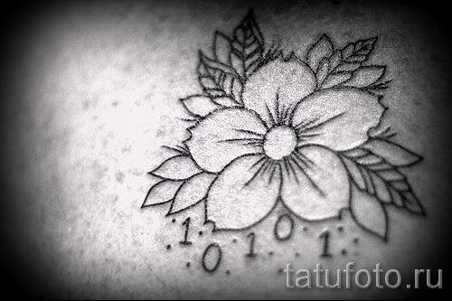 tattoo white Sakura - Photo example of the number 12122015 1