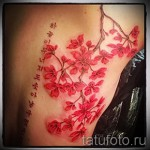 tattoos for girls Sakura - Photo example of the number 12122015 3