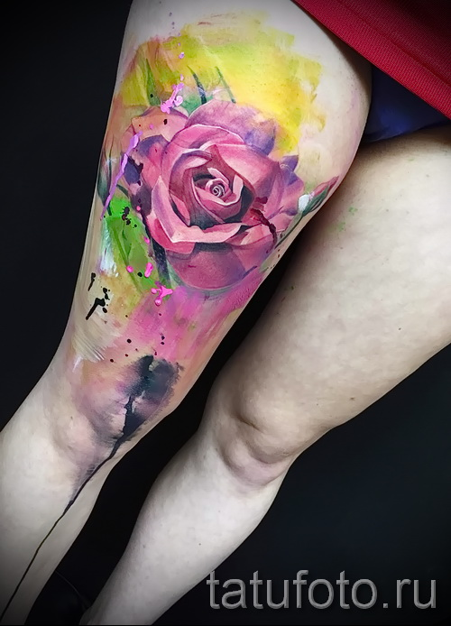 watercolor rose tattoo - Picture option from the number 15122015 1