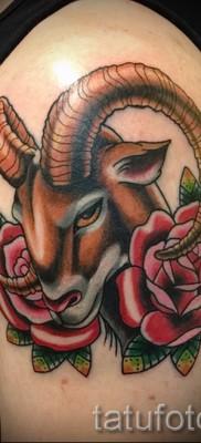 Тату козел – фото готовой татуировки от 10012016 11
