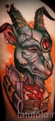 Тату козел – фото готовой татуировки от 10012016 12