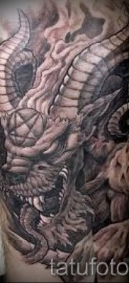 Тату козел – фото готовой татуировки от 10012016 15