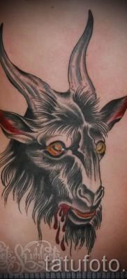 Тату козел – фото готовой татуировки от 10012016 16