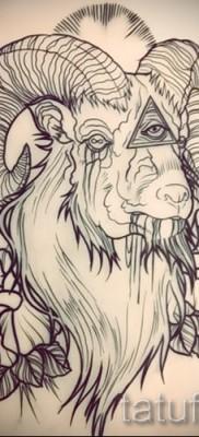 Тату козел – фото готовой татуировки от 10012016 2