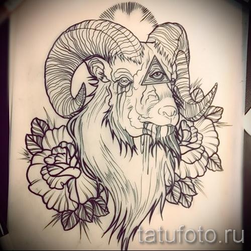 Тату козел - фото готовой татуировки от 10012016 2