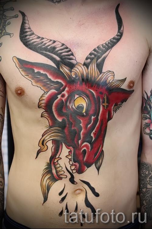 Тату козел - фото готовой татуировки от 10012016 21