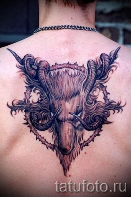Тату козел - фото готовой татуировки от 10012016 22