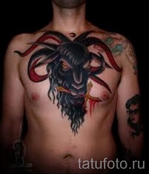Тату козел - фото готовой татуировки от 10012016 238