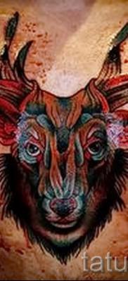 Тату козел – фото готовой татуировки от 10012016 24