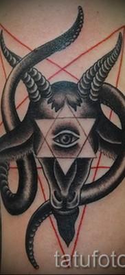 Тату козел – фото готовой татуировки от 10012016 26