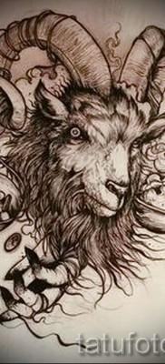 Тату козел – фото готовой татуировки от 10012016 3