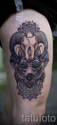 Тату козел – фото готовой татуировки от 10012016 30