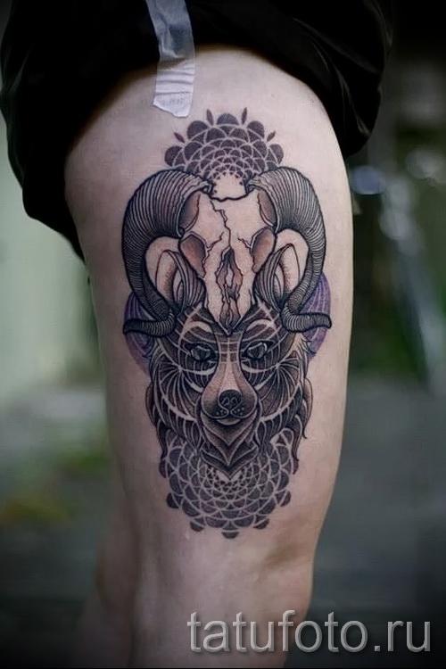 Тату козел - фото готовой татуировки от 10012016 30