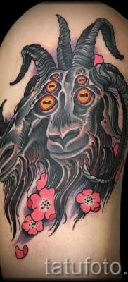 Тату козел – фото готовой татуировки от 10012016 32