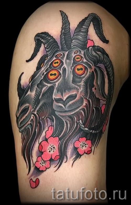 Тату козел - фото готовой татуировки от 10012016 32