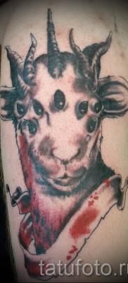 Тату козел – фото готовой татуировки от 10012016 34