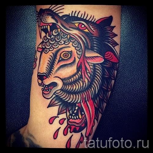 Тату козел - фото готовой татуировки от 10012016 36