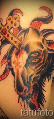 Тату козел – фото готовой татуировки от 10012016 37