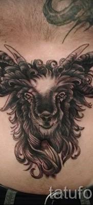 Тату козел – фото готовой татуировки от 10012016 38