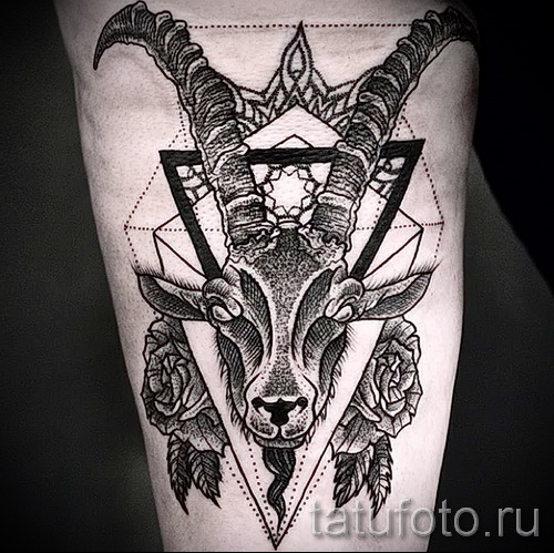 Тату козел - фото готовой татуировки от 10012016 4