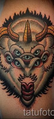 Тату козел – фото готовой татуировки от 10012016 41