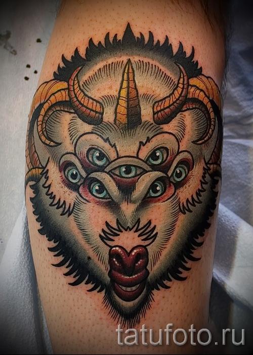 Тату козел - фото готовой татуировки от 10012016 41