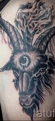 Тату козел – фото готовой татуировки от 10012016 42