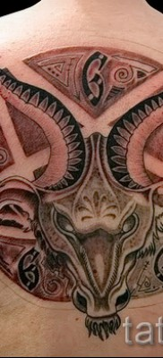 Тату козел – фото готовой татуировки от 10012016 46