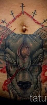Тату козел – фото готовой татуировки от 10012016 7