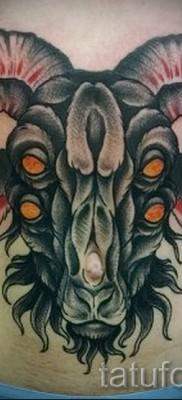 Тату козел – фото готовой татуировки от 10012016 8